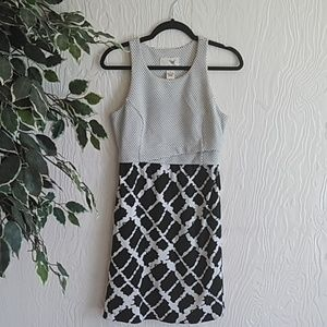 Anthropologie Tabitha black&white sleeveless dress
